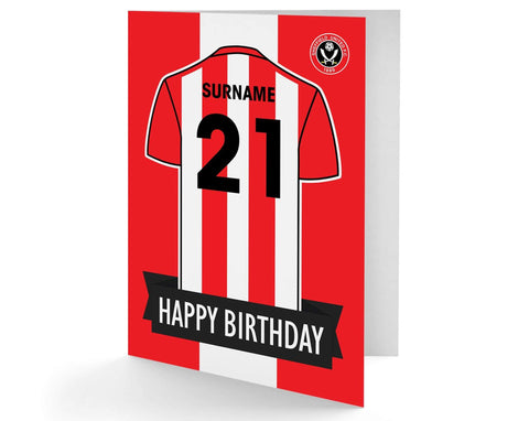 Personalised Sheffield Utd Birthday Card - Official Merchandise Gifts
