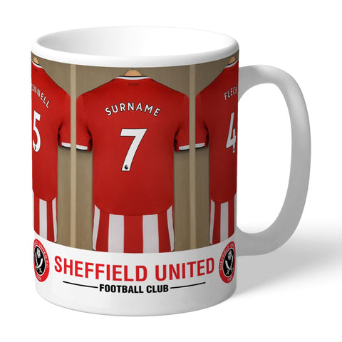 Personalised Sheffield Utd Dressing Room Mug - Official Merchandise Gifts