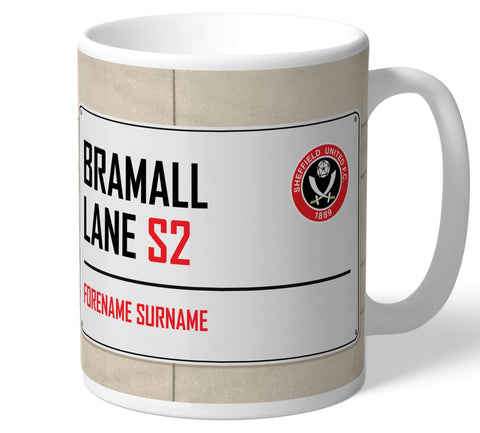 Personalised Sheffield Utd Mug - Street Sign - Official Merchandise Gifts
