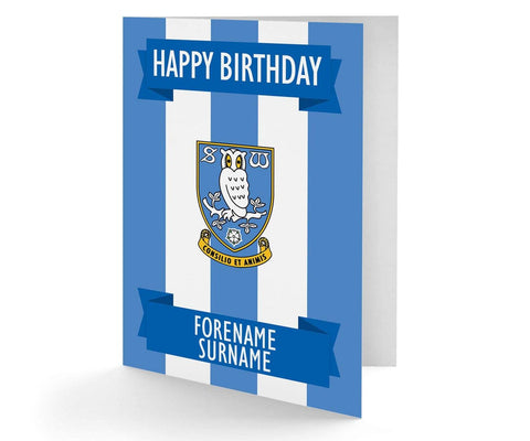 Personalised Sheffield Wednesday Birthday Card - Official Merchandise Gifts