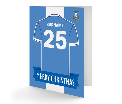Personalised Sheffield Wednesday Christmas Card - Official Merchandise Gifts