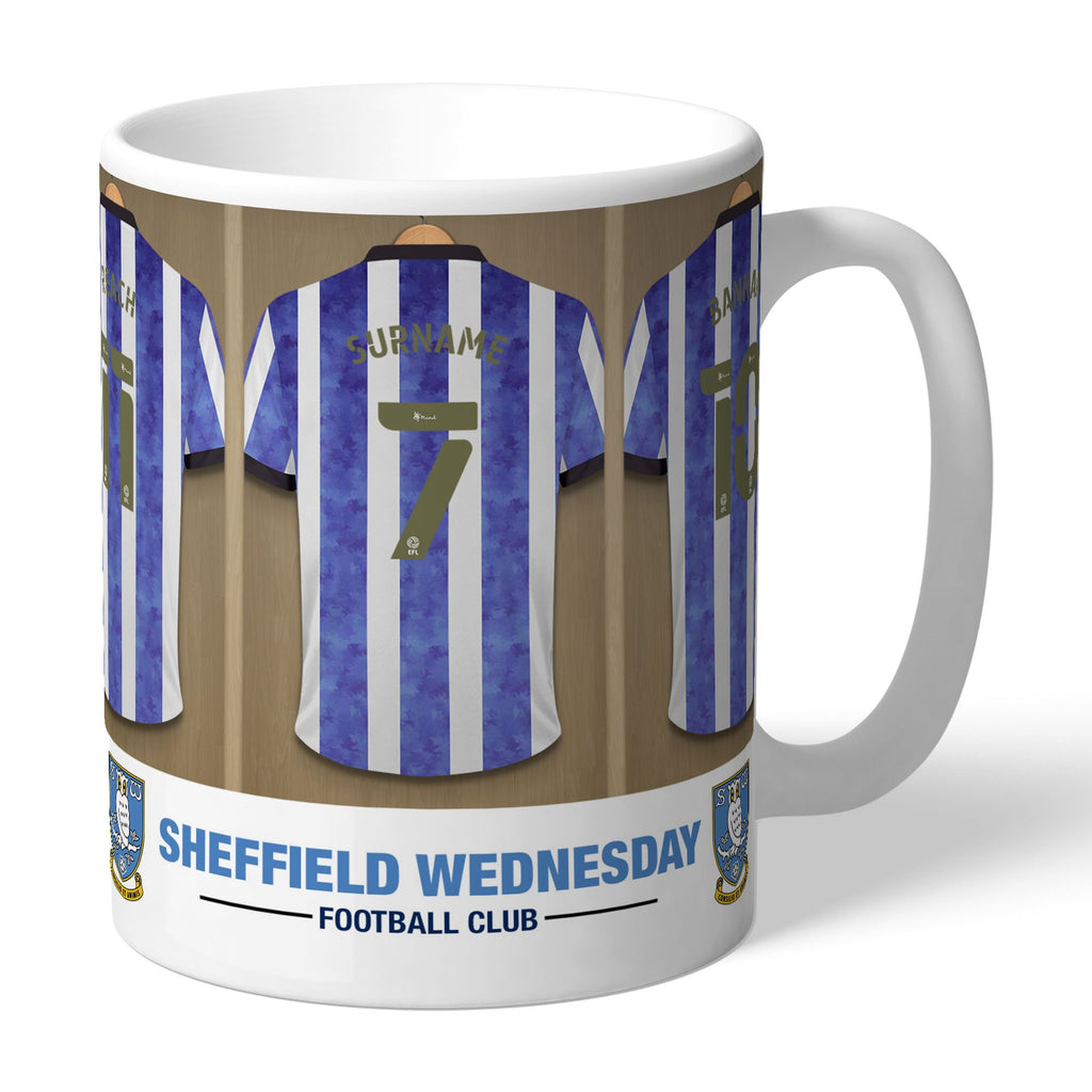 Personalised Sheffield Wednesday Dressing Room Mug - Official Merchandise Gifts