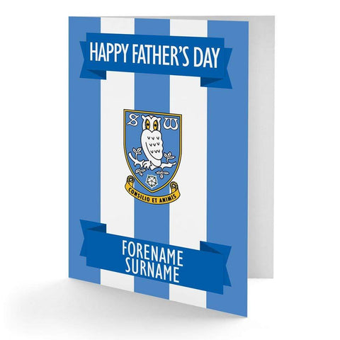 Personalised Sheffield Wednesday Fathers Day Card - Official Merchandise Gifts