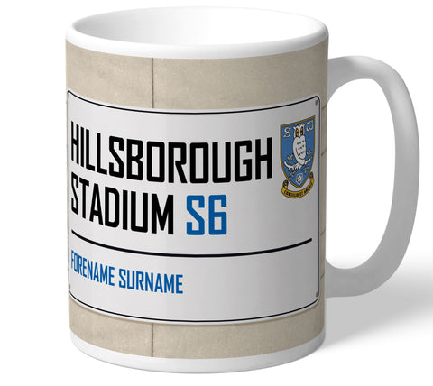 Personalised Sheffield Wednesday Mug - Street Sign - Official Merchandise Gifts