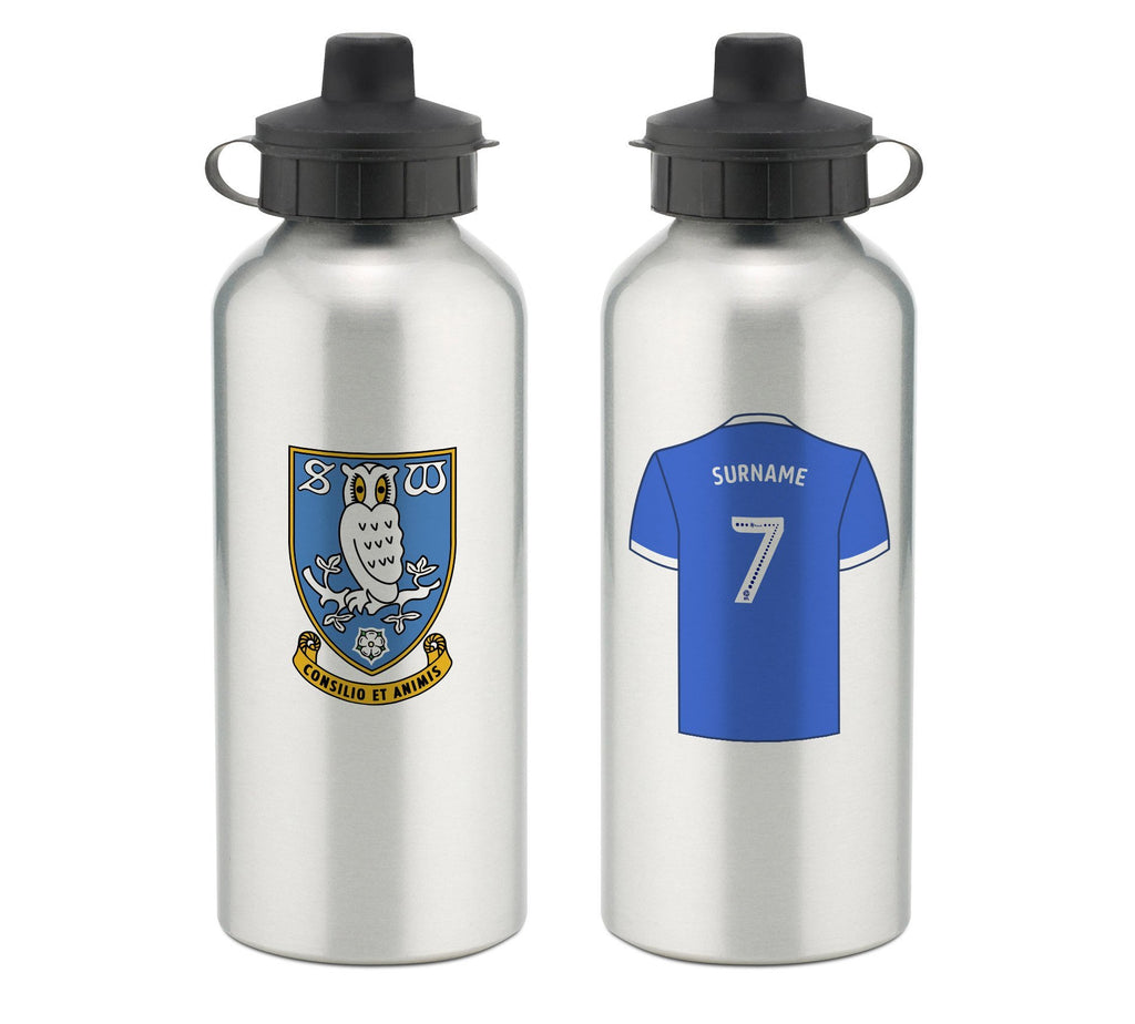 Personalised Sheffield Wednesday Water Bottle - Official Merchandise Gifts