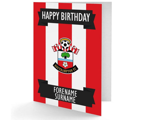 Personalised Southampton Birthday Card - Official Merchandise Gifts