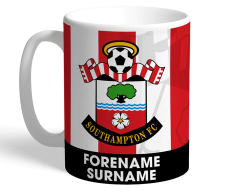Personalised Southampton Crest Mug - Official Merchandise Gifts