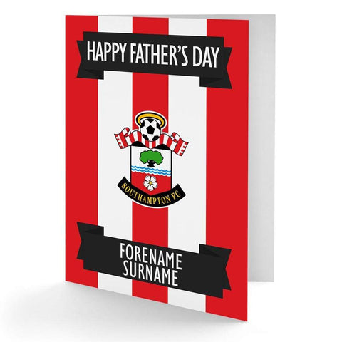 Personalised Southampton Fathers Day Card - Official Merchandise Gifts