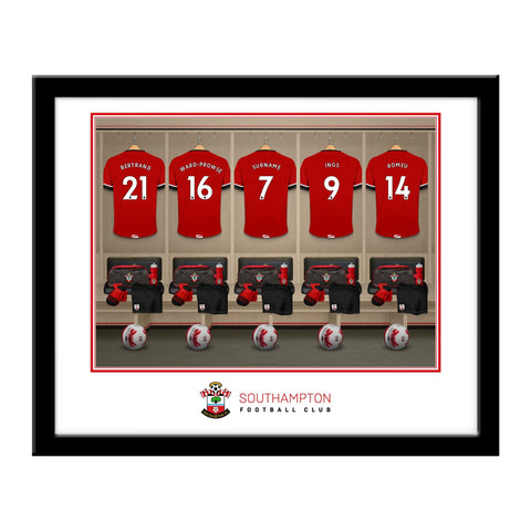 Personalised Southampton FC Dressing Room Framed Print - Official Merchandise Gifts