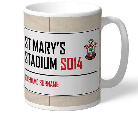 Personalised Southampton Mug - Street Sign - Official Merchandise Gifts