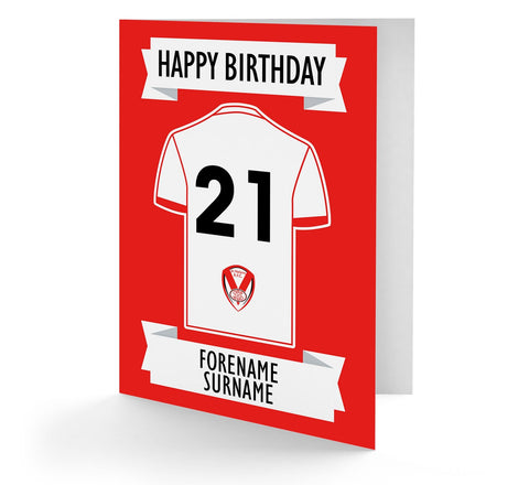 Personalised St Helens Birthday Card - Official Merchandise Gifts