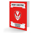 Personalised St Helens Christmas Card - Official Merchandise Gifts