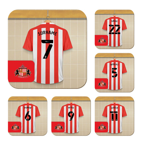 Personalised Sunderland AFC Dressing Room Coasters - Official Merchandise Gifts