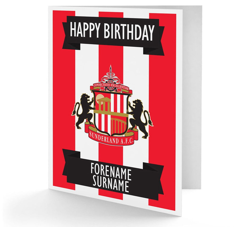 Personalised Sunderland Birthday Card - Official Merchandise Gifts