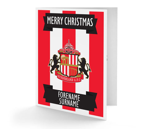 Personalised Sunderland Christmas Card - Official Merchandise Gifts