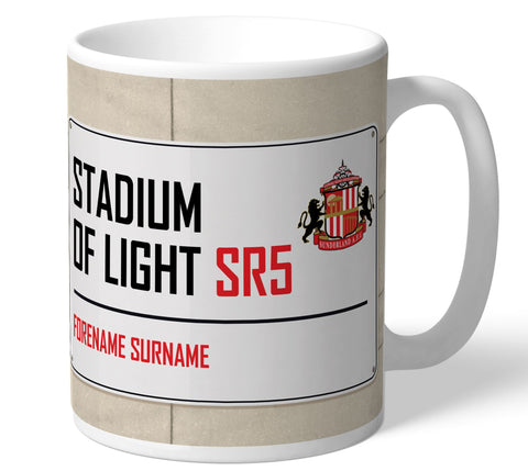 Personalised Sunderland Mug - Street Sign - Official Merchandise Gifts