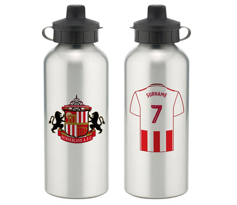 Personalised Sunderland Water Bottle - Official Merchandise Gifts