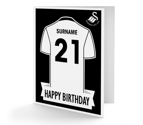 Personalised Swansea Birthday Card - Official Merchandise Gifts