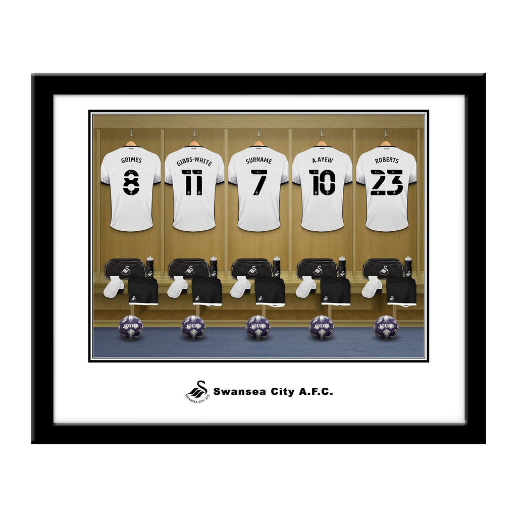 Personalised Swansea City Dressing Room Framed Print - Official Merchandise Gifts