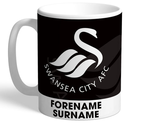 Personalised Swansea Crest Mug - Official Merchandise Gifts