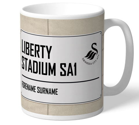 Personalised Swansea Mug - Street Sign - Official Merchandise Gifts