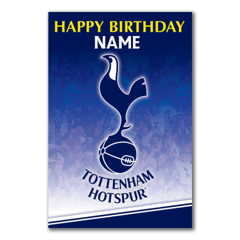 Personalised Tottenham Hotspur FC Crest Birthday Card - Official Merchandise Gifts