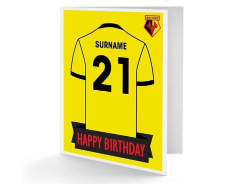 Personalised Watford Birthday Card - Official Merchandise Gifts