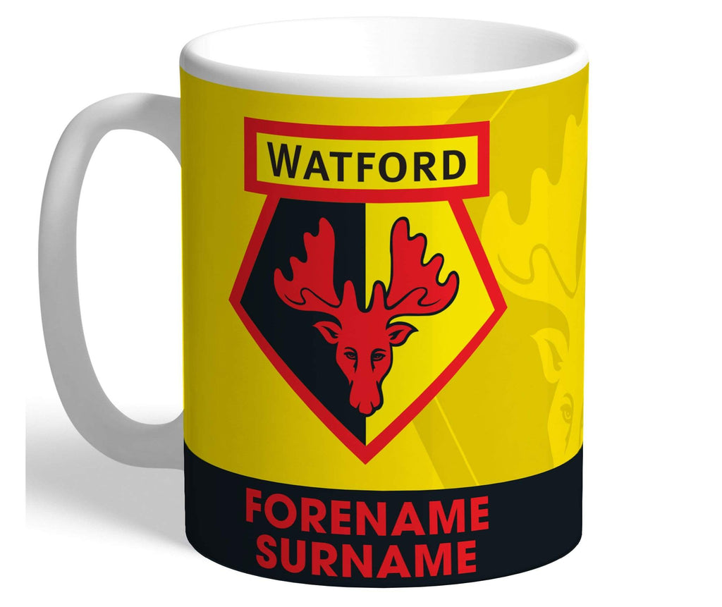 Personalised Watford Crest Mug - Official Merchandise Gifts