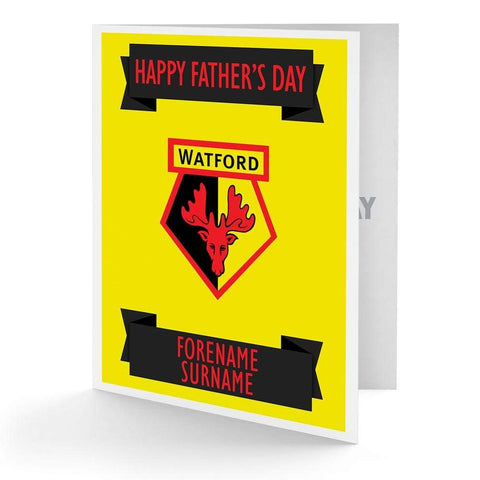 Personalised Watford Fathers Day Card - Official Merchandise Gifts