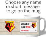 Personalised Watford Mug - Street Sign - Official Merchandise Gifts
