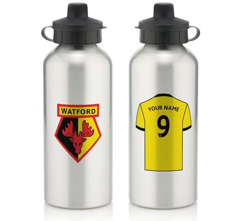 Personalised Watford Water Bottle - Official Merchandise Gifts