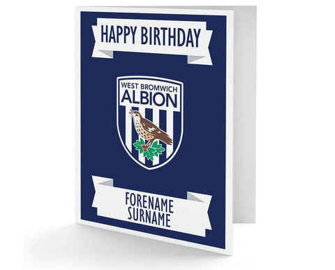 Personalised West Brom Birthday Card - Official Merchandise Gifts