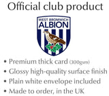 Personalised West Brom Christmas Card - Official Merchandise Gifts