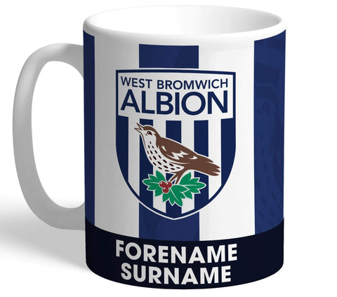 Personalised West Brom Crest Mug - Official Merchandise Gifts