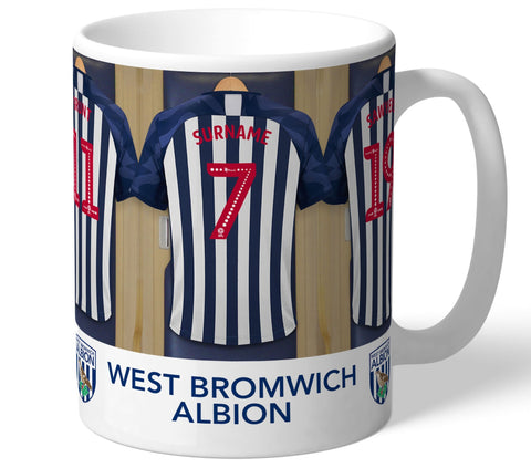 Personalised West Brom Dressing Room Mug - Official Merchandise Gifts