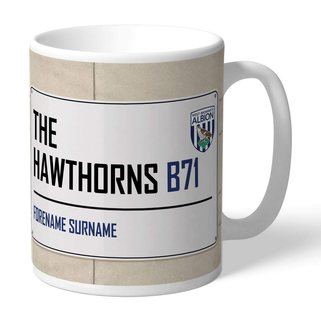 Personalised West Brom Mug - Street Sign - Official Merchandise Gifts