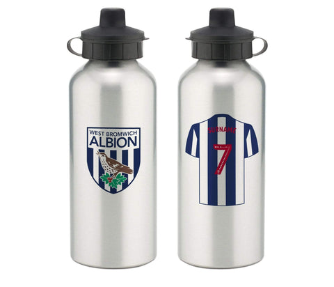 Personalised West Brom Water Bottle - Official Merchandise Gifts