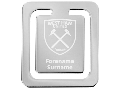 Personalised West Ham Bookmark - Official Merchandise Gifts
