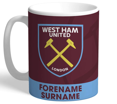 Personalised West Ham Crest Mug - Official Merchandise Gifts