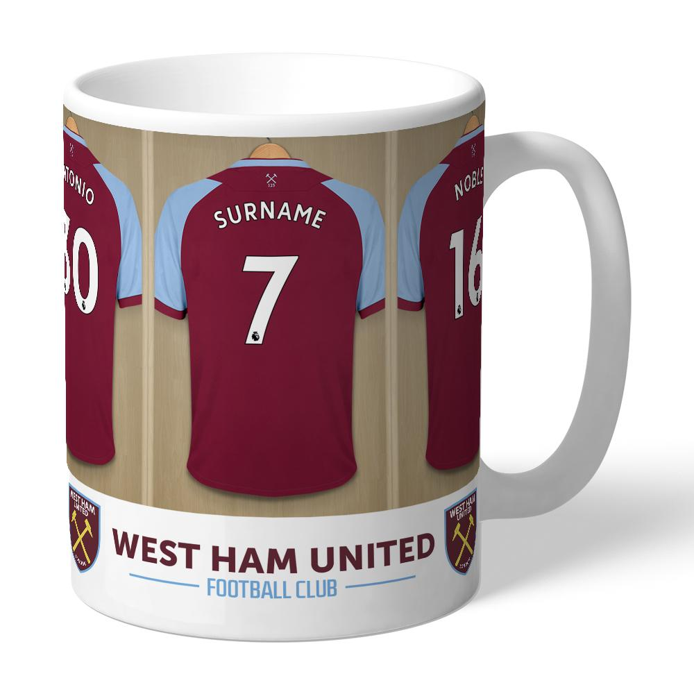 Personalised West Ham Dressing Room Mug - Official Merchandise Gifts
