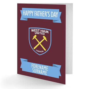 Personalised West Ham Fathers Day Card - Official Merchandise Gifts