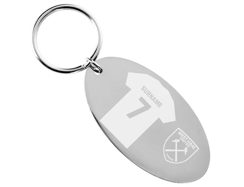 Personalised West Ham Keyring - Official Merchandise Gifts
