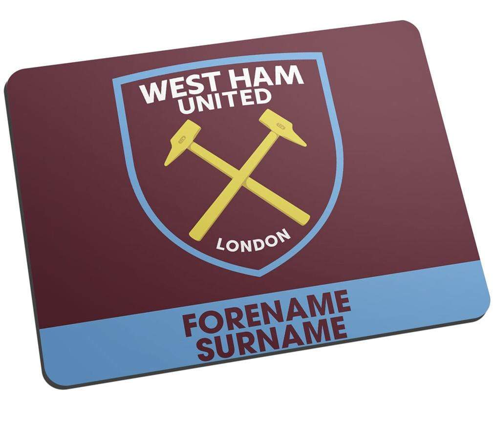Personalised West Ham Mouse Mat - Official Merchandise Gifts