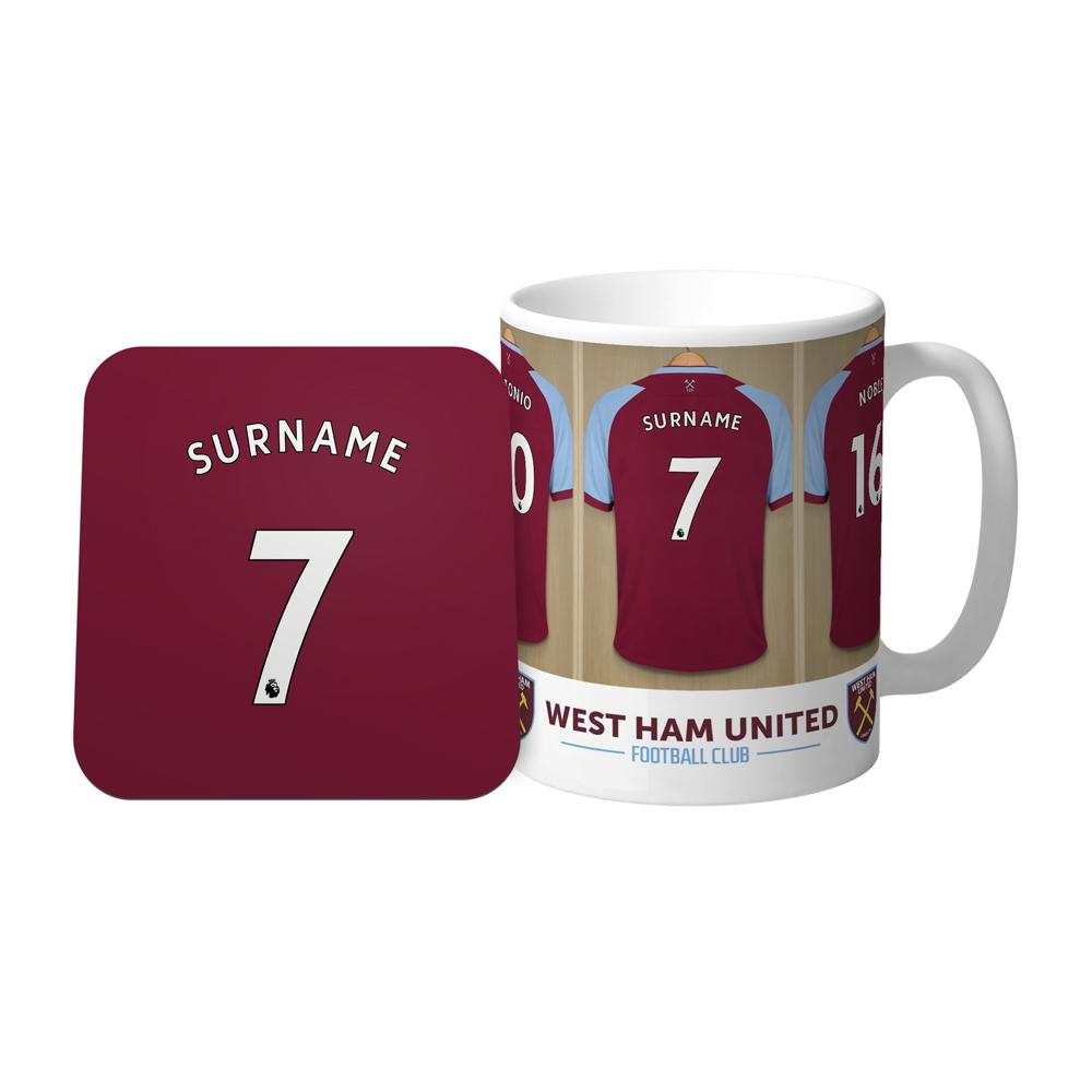 Personalised West Ham Mug & Coaster - Official Merchandise Gifts