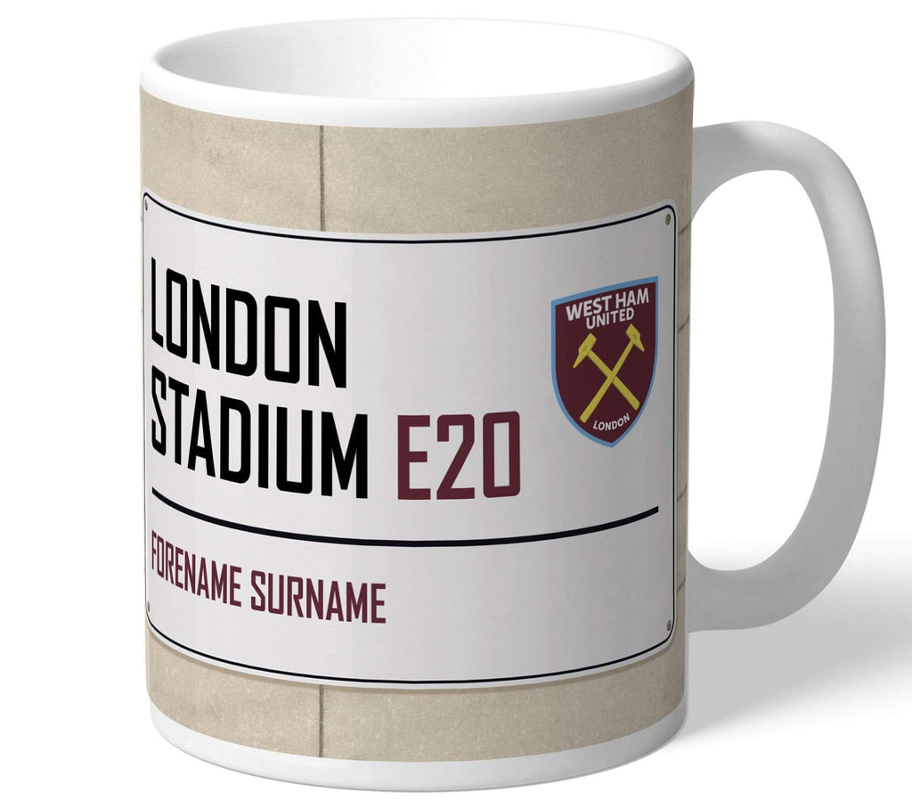 Personalised West Ham Mug - Street Sign - Official Merchandise Gifts