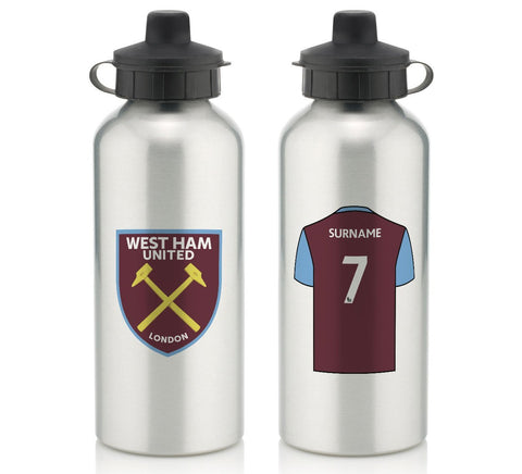 Personalised West Ham Water Bottle - Official Merchandise Gifts