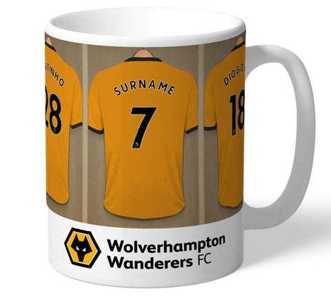 Personalised Wolves Dressing Room Mug - Official Merchandise Gifts