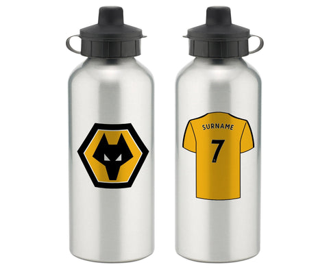 Personalised Wolves Water Bottle - Official Merchandise Gifts
