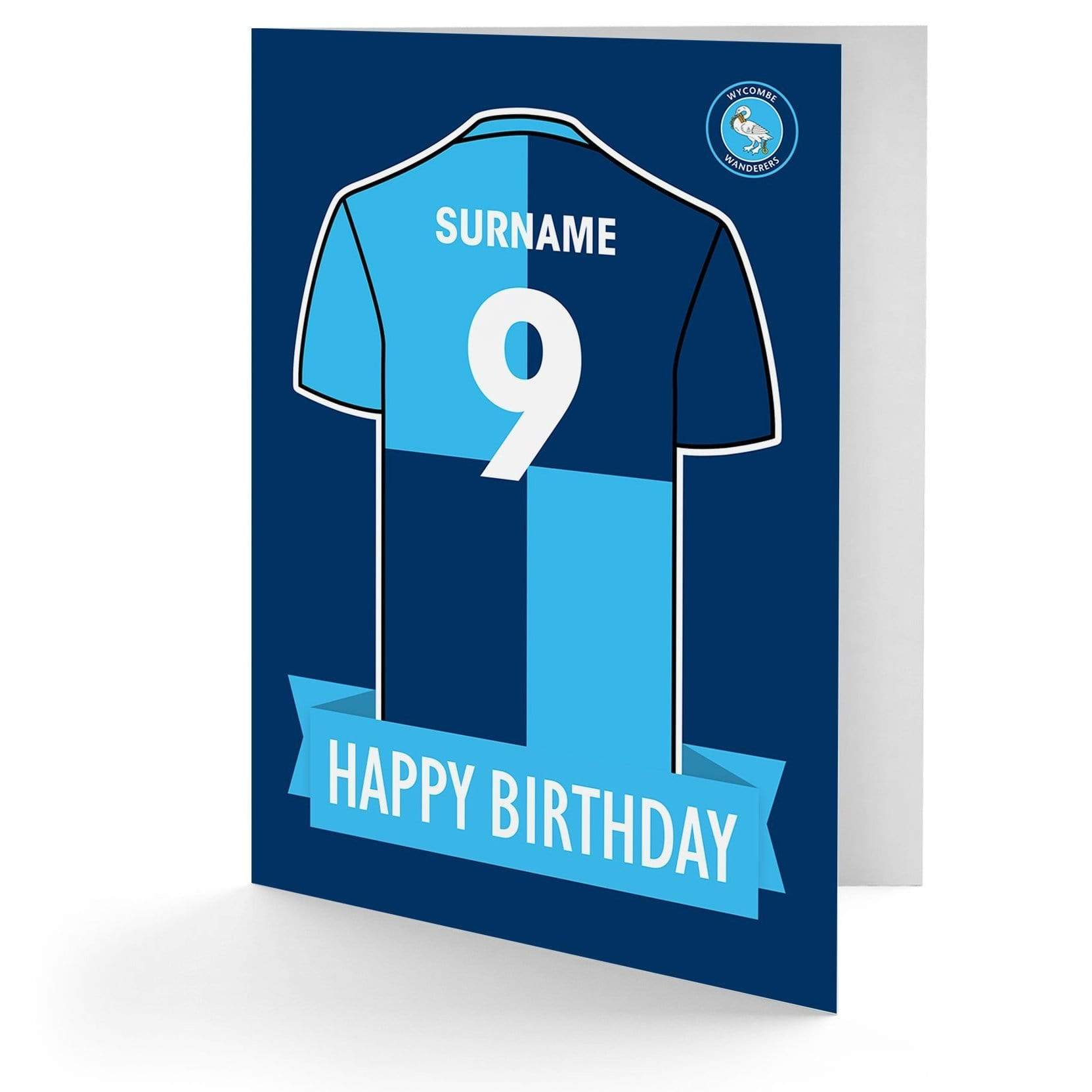 Personalised Greetings Card SHIRT Wycombe Wanderers F.C