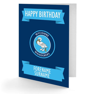 Personalised Wycombe Birthday Card - Official Merchandise Gifts